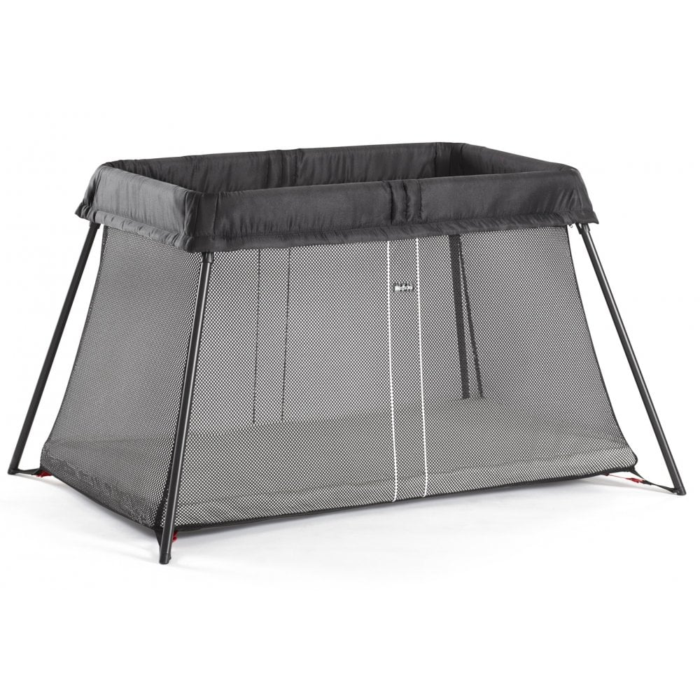 2fde3f96b1d BabyBjorn Travel Cot Light with Fitted Sheet (Black) - Nursery ...