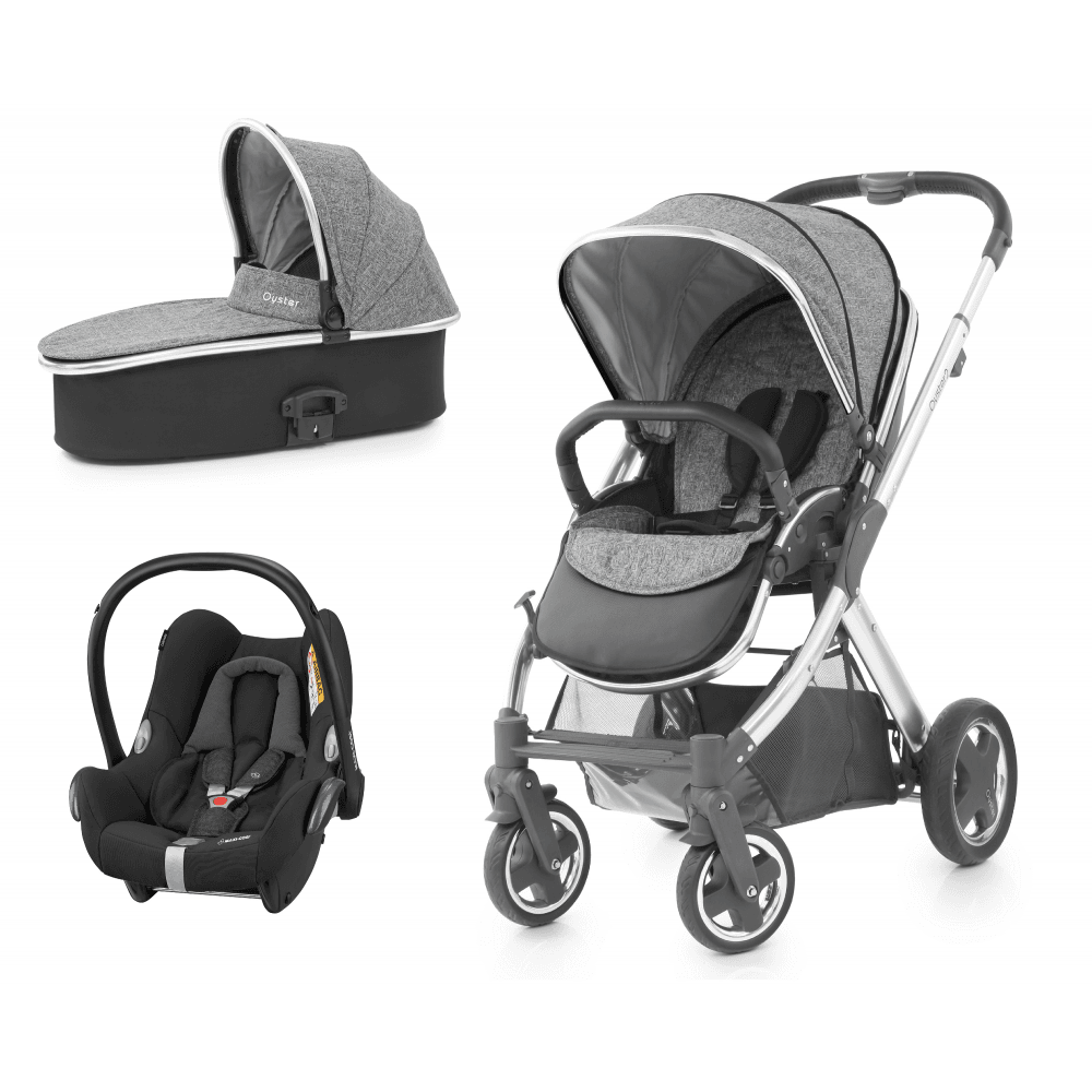 7e4661c2e8a1f BabyStyle Oyster 2 - 3 in 1 Travel System (Wolf Grey) - Travel ...