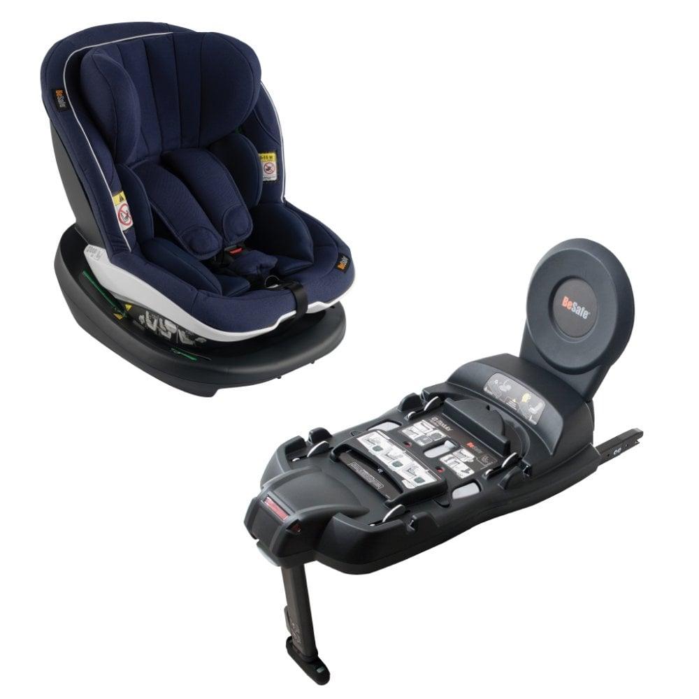 BeSafe IZi Modular I Size Car Seat Navy Melange Amp Base Bundle