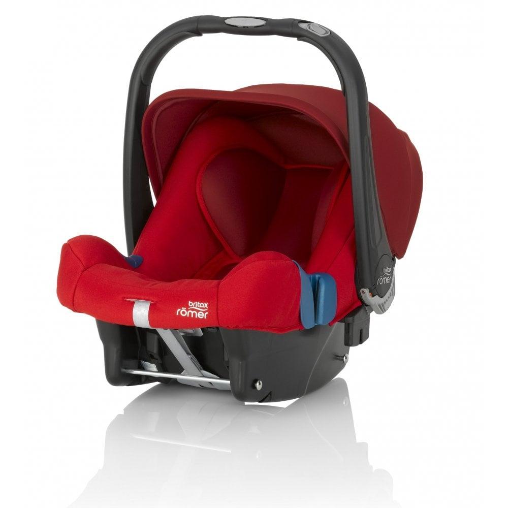 Britax Rmer Baby Safe Plus SHR II Car Seat Flame Red