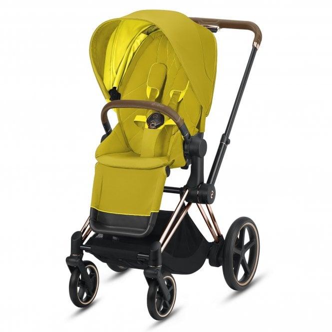 Cybex e-Priam Stroller & Seat Pack (Rose Gold/Mustard ...
