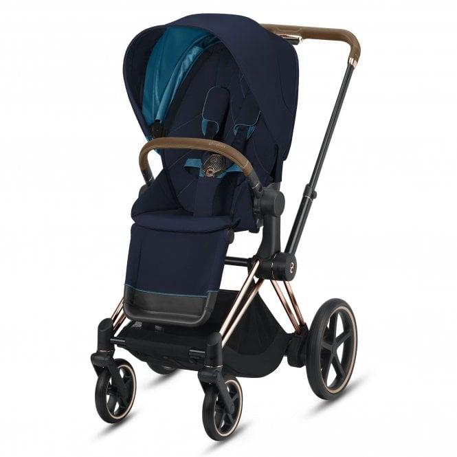 Cybex e-Priam Stroller & Seat Pack (Rose Gold/Nautical ...