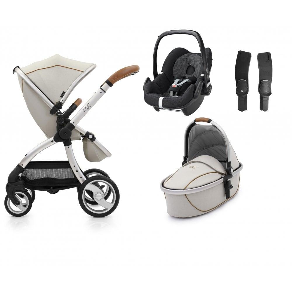 Egg Stroller Maxi Cosi Pebble Bundle Prosecco