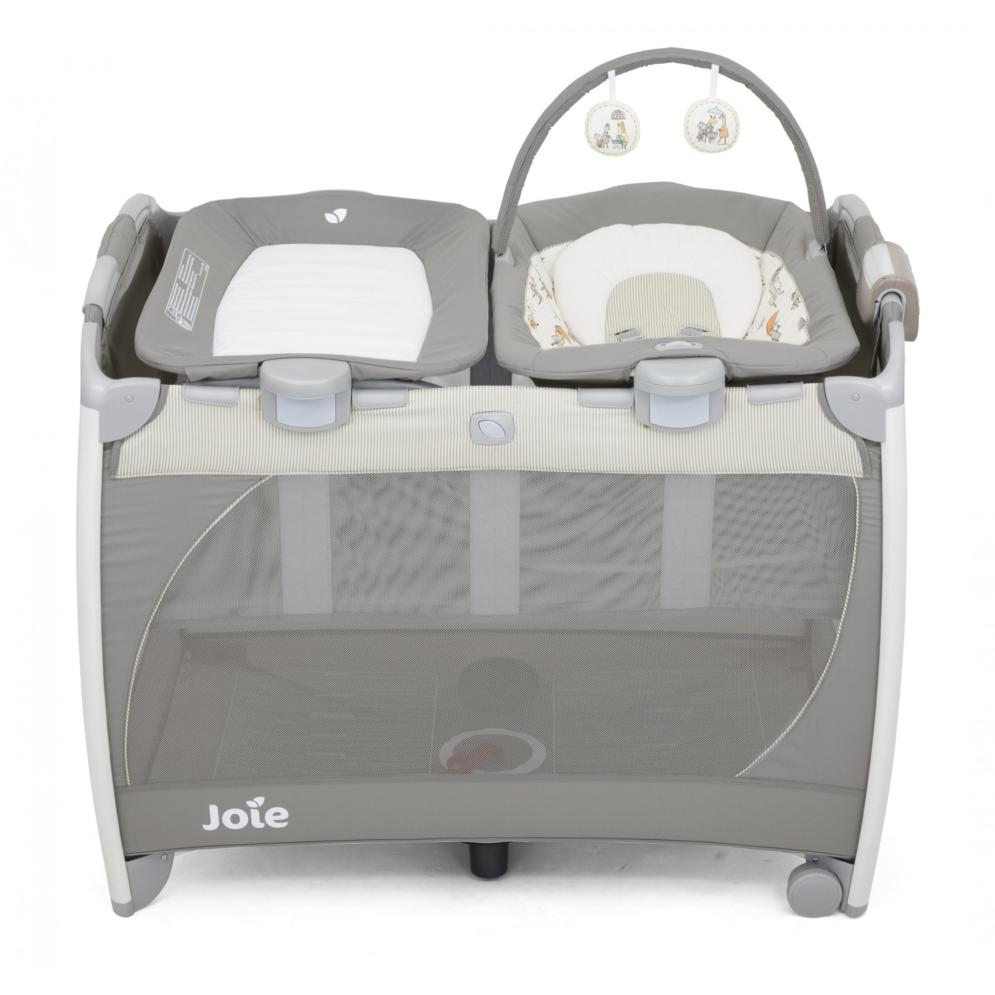 Inovi Cocoon Travel Bassinet Grey Great Used condition RRP £115.00