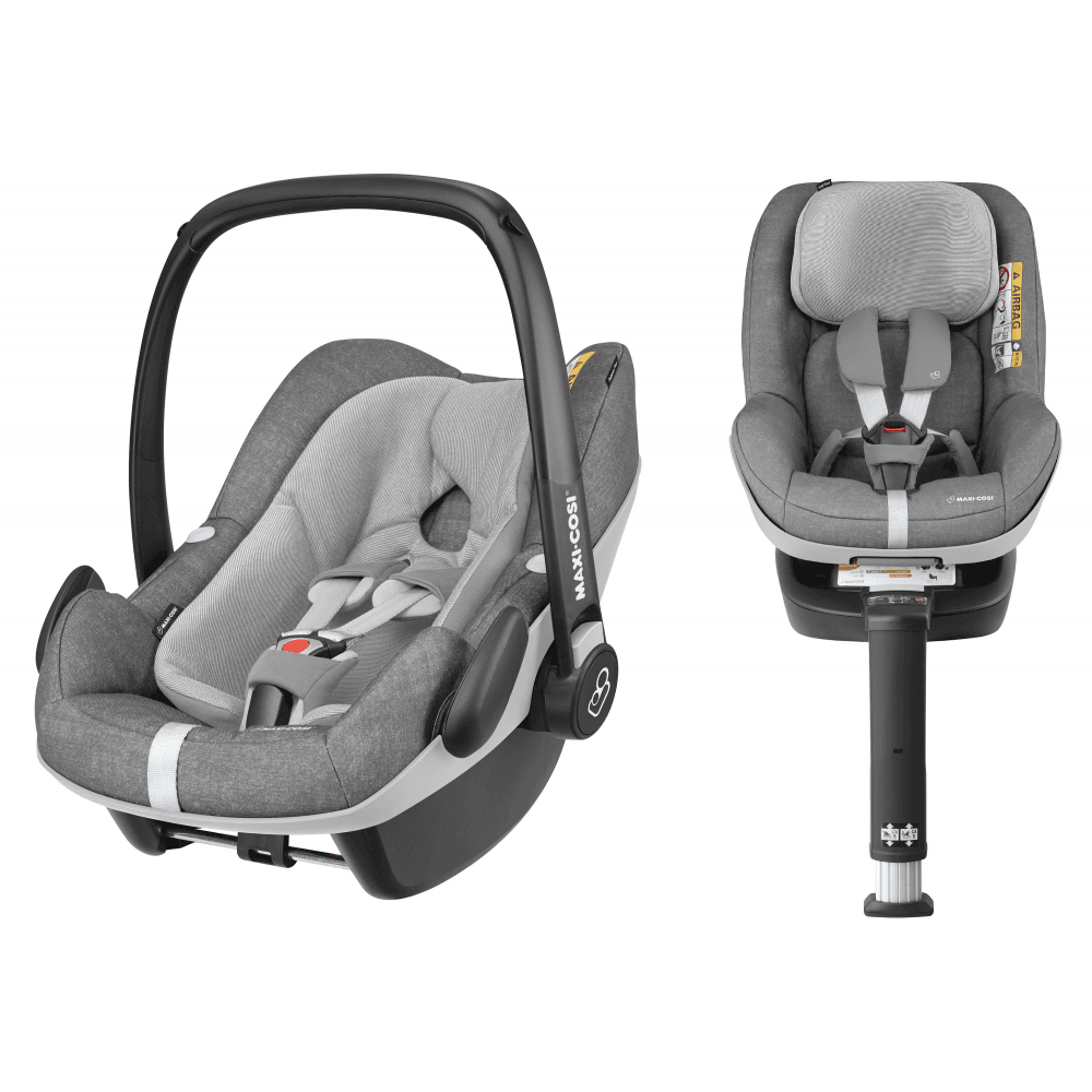 Maxi Cosi 3 In 1 I Size Pebble Plus Baby Car Seat And 2way Pearl Toddler Car Seat Bundle Nomad Grey