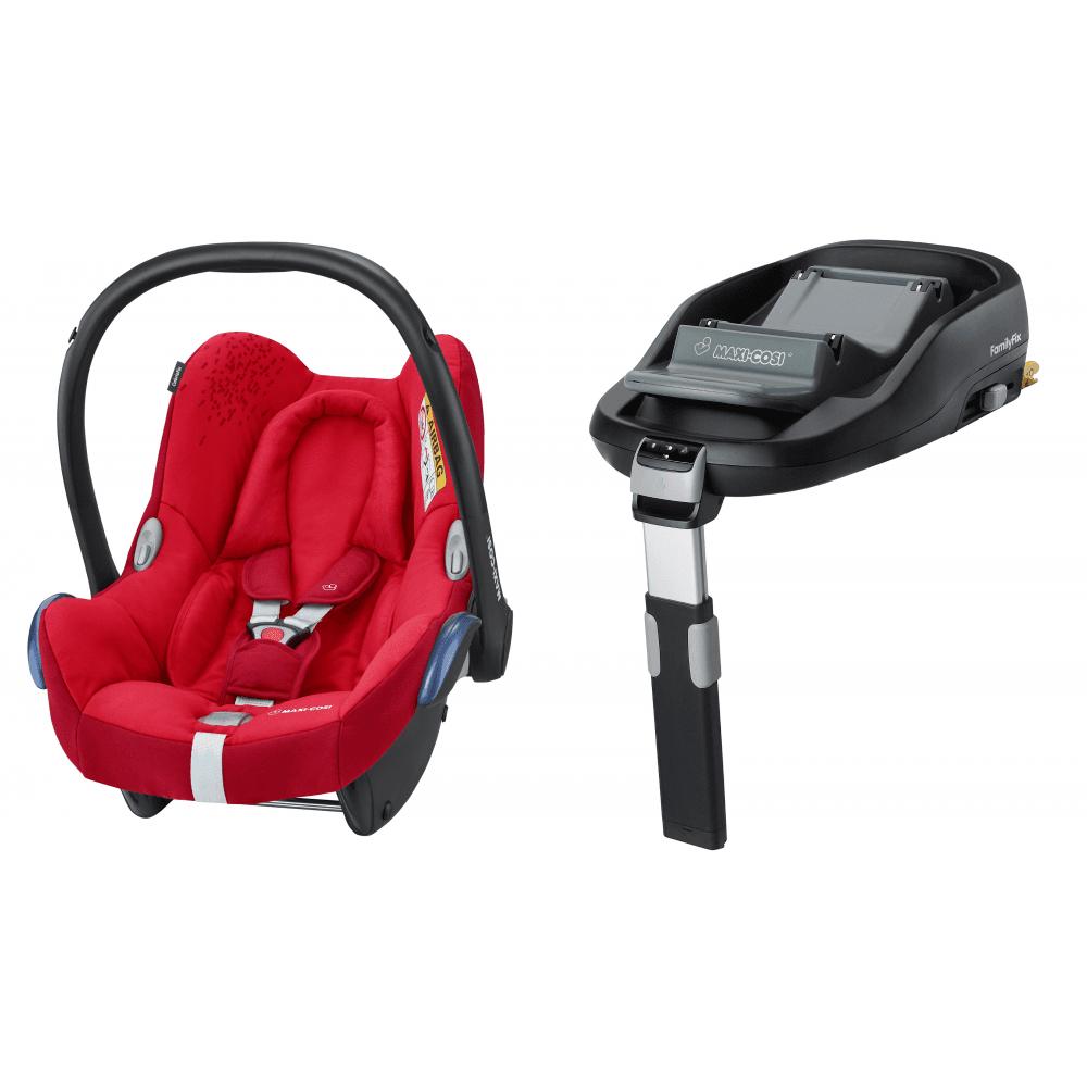 Maxi Cosi Cabriofix Baby Car Seat Bundle Familyfix Isofix Base Bundle Vivid Red