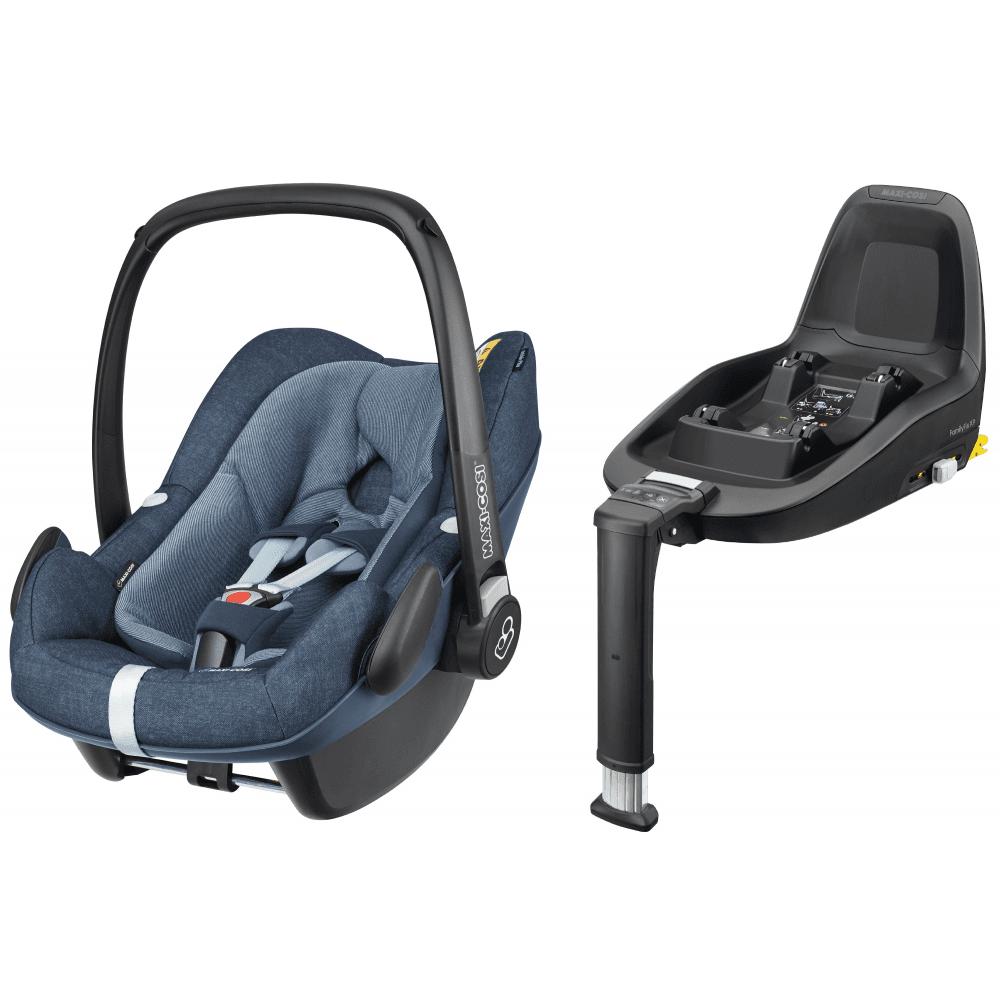 Pebble Plus I Size Baby Car Seat With 2way Isofix Base Bundle Nomad Blue