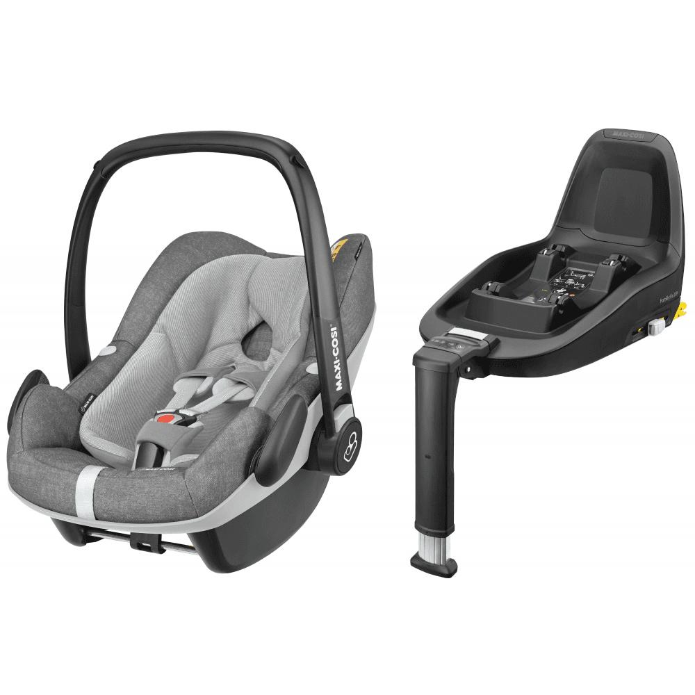 Pebble Plus I Size Baby Car Seat With 2way Isofix Base Bundle Nomad Grey
