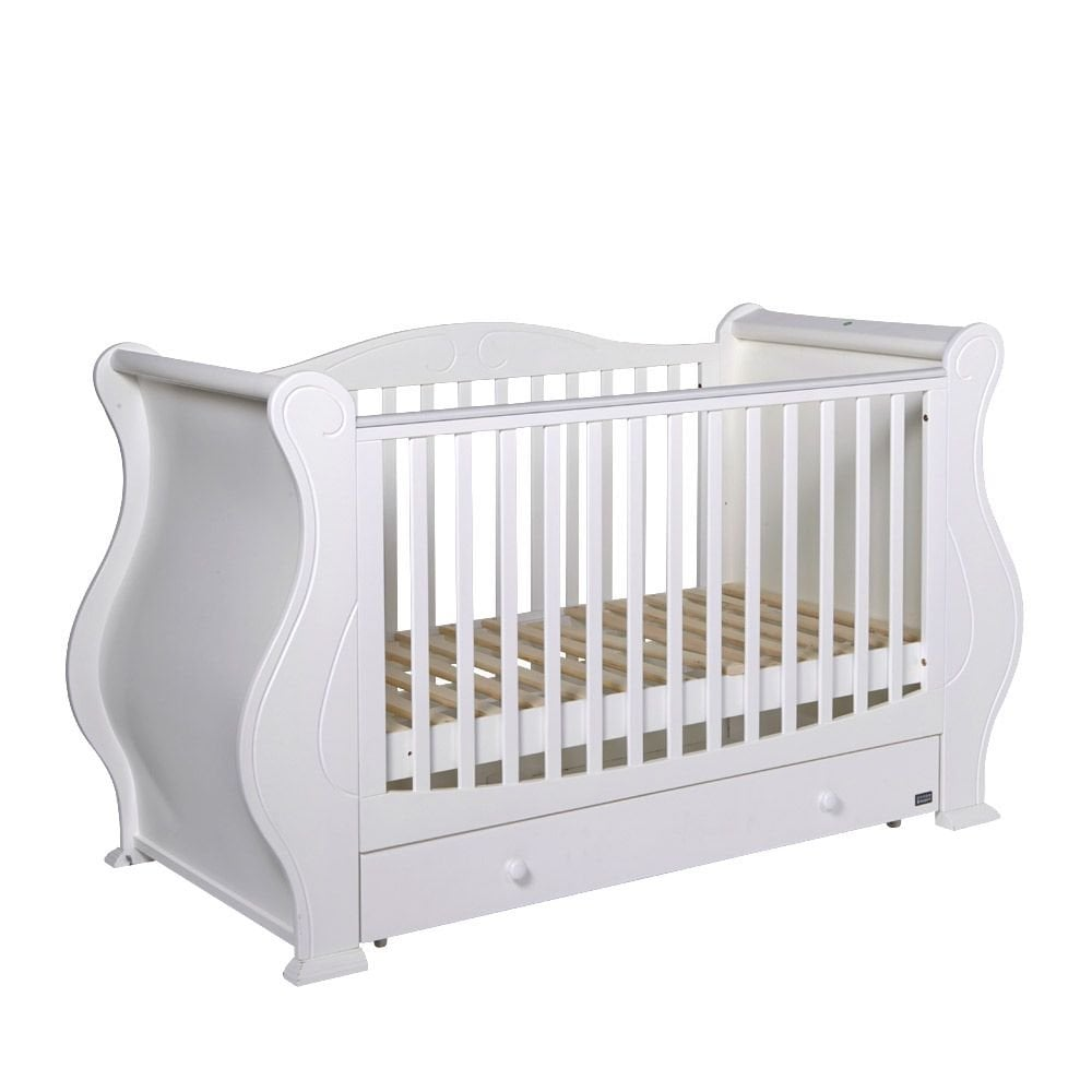 - Tutti Bambini Louis 3 In 1 Deluxe Sleigh Cot Bed With Under Bed