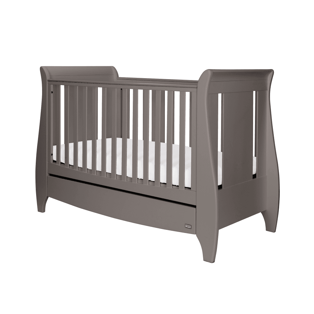 best service 21813 4ba09 Tutti Bambini Lucas Sleigh Cot Bed & Under Bed Drawer With ...